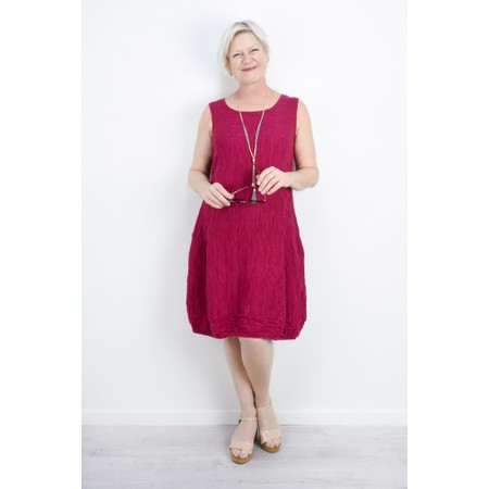 Grizas Domi Solid Crinkle Dress - Purple