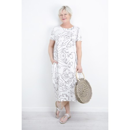 Grizas Yana Abstract Print Jersey Dress - Beige