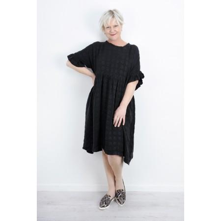 Grizas Marija Frill Sleeve Dress - Black