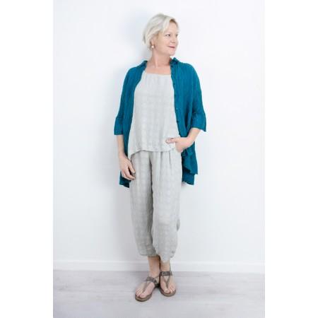 Grizas Urte Crinkle Linen Shirt - Turquoise