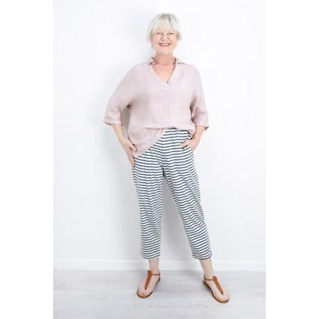 Mama B Raro Riga Stripe Trouser - Blue