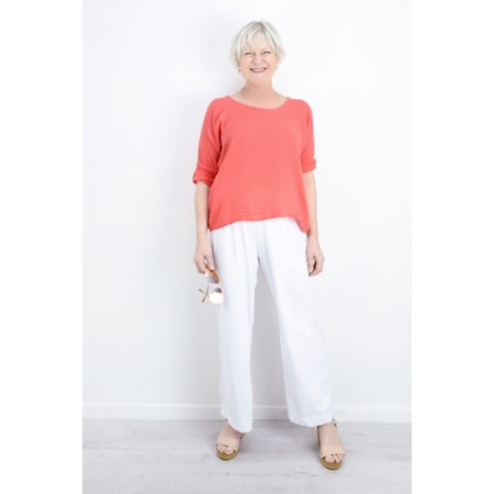 TOC Billie Linen Mix Easy Fit Top - Orange