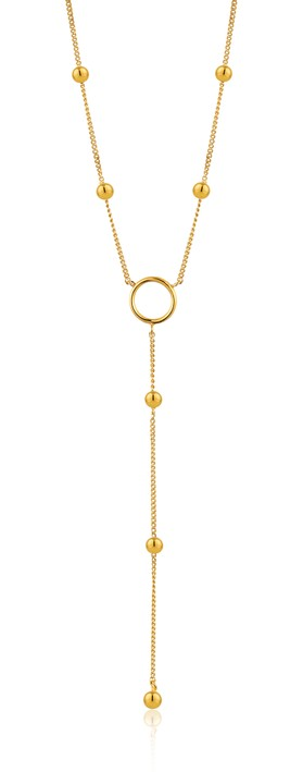 Ania Haie Modern Circle Y Necklace Gold
