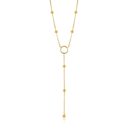 Ania Haie Modern Circle Y Necklace - Gold