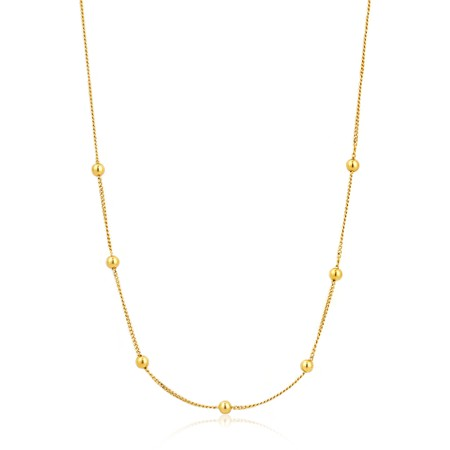 Ania Haie Modern Beaded Necklace - Gold