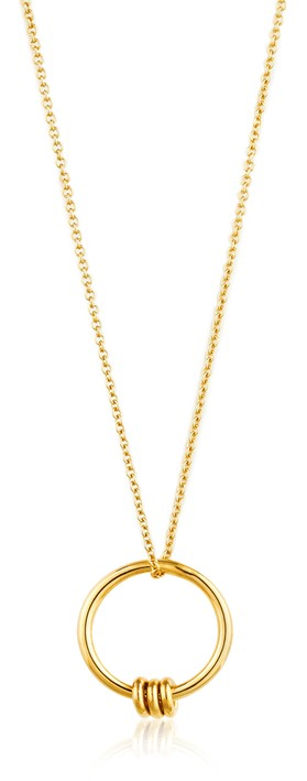 Ania Haie Modern Circle Necklace Gold