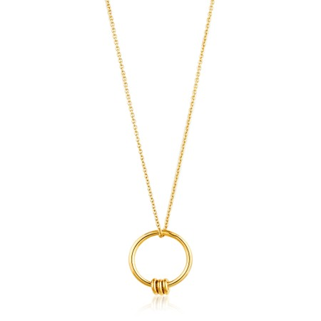 Ania Haie Modern Circle Necklace - Gold