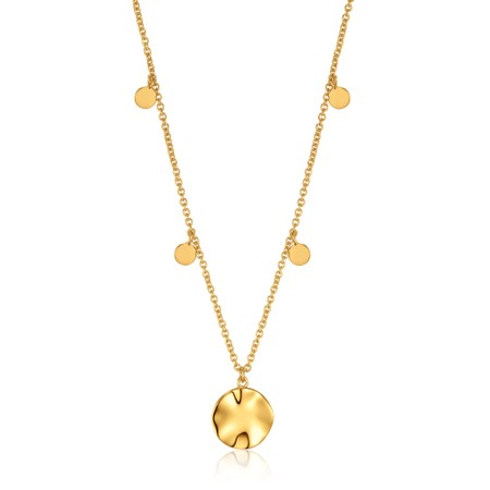 Ania Haie Ripple Drop Discs Necklace - Gold