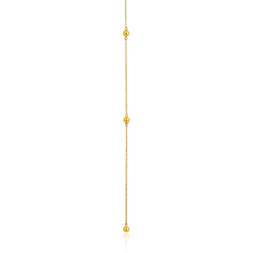 Ania Haie Modern Beaded Y Necklace Gold