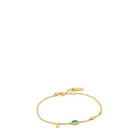 Ania Haie Turquoise Discs Bracelet - Gold
