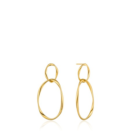 Ania Haie Swirl Nexus Earrings - Gold