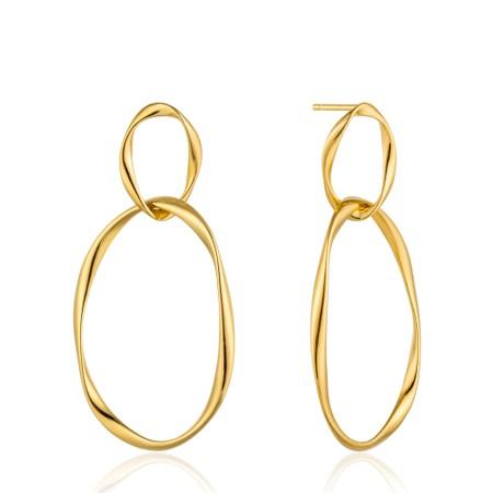 Ania Haie Swirl Nexus Earrings - Gold