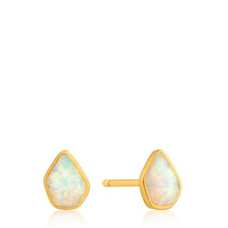 Ania Haie Opal Colour Stud Earrings - Gold