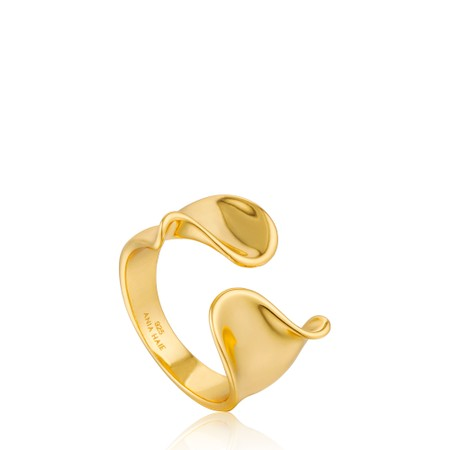 Ania Haie Twist Wide Adjustable Ring - Gold