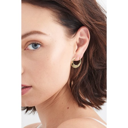 Ania Haie Oval twist Earrings - Gold