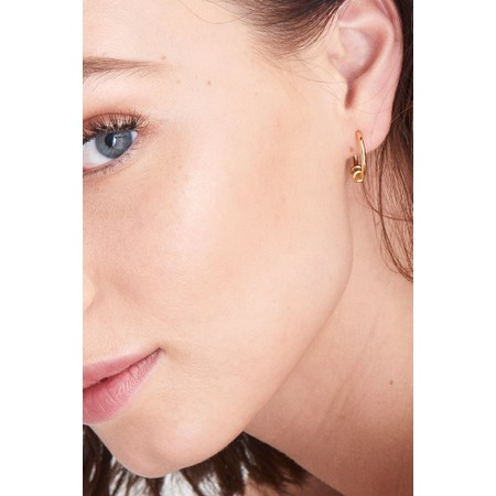 Ania Haie Modern Hoop Earrings - Gold