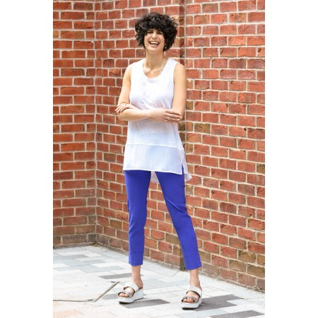 Robell  Bella 09 Ankle Length 7/8 Cuff Trouser - Blue
