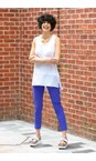Robell  Royal Blue 67 Bella 09 Royal Blue Ankle Length 7/8 Cuff Trouser