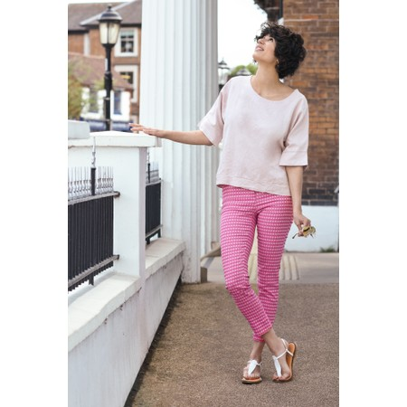 Fenella  Angie Boxy Linen Top - Pink