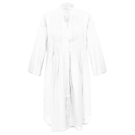 Lara Ethnics Katniss Mao Shirt with Lurex Thread - White