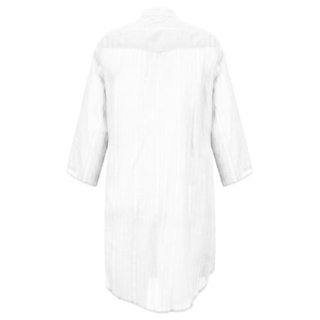 Lara Ethnics Katniss Mao Shirt with Lurex Thread - White