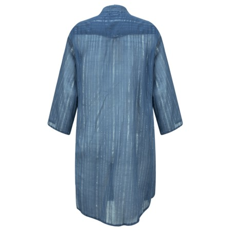 Lara Ethnics Katniss Mao Shirt with Lurex Thread - Blue