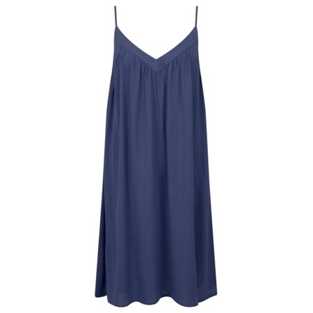 Lara Ethnics Melanie Summer Crepe Strappy Dress - Blue