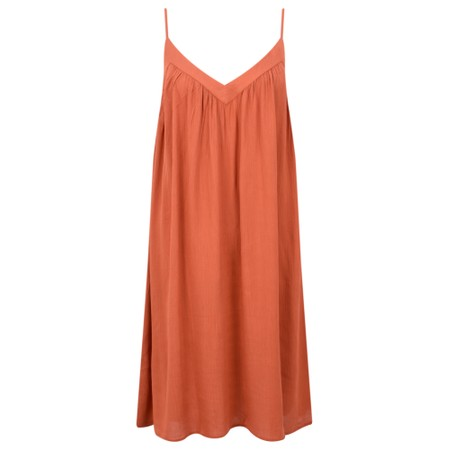 Lara Ethnics Melanie Summer Crepe Strappy Dress - Orange