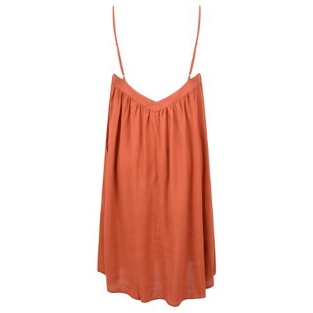 Lara Ethnics Melanie Summer Crepe Strappy Dress - Orange