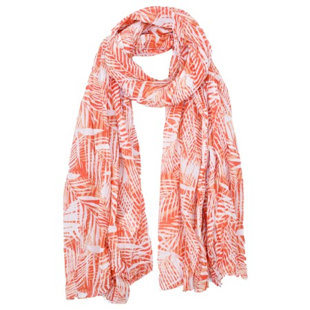 Lara Ethnics Vahine Palm Pareo Scarf - Red