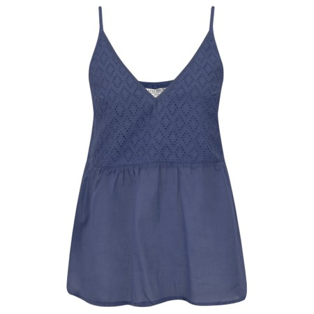 Lara Ethnics Manon Broderie Strappy Top - Blue