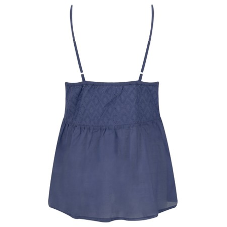 Lara Ethnics Manon Broderie Strappy Top - Blue
