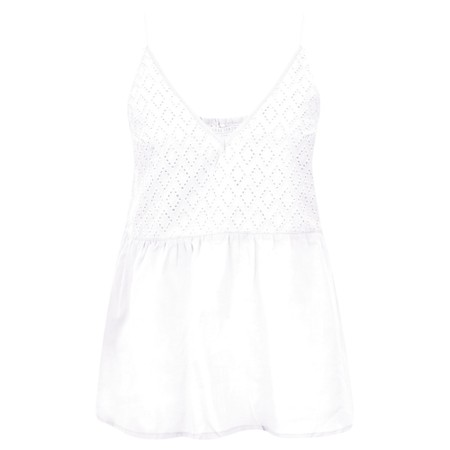Lara Ethnics Manon Broderie Strappy Top - White