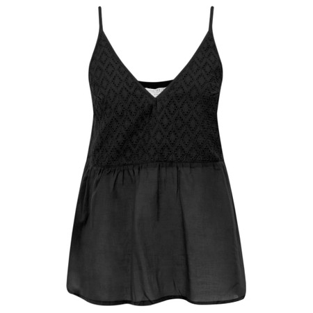 Lara Ethnics Manon Broderie Strappy Top - Black