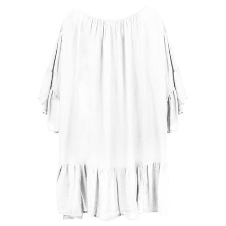 Lara Ethnics Kavina Summer Crepe Tunic - White
