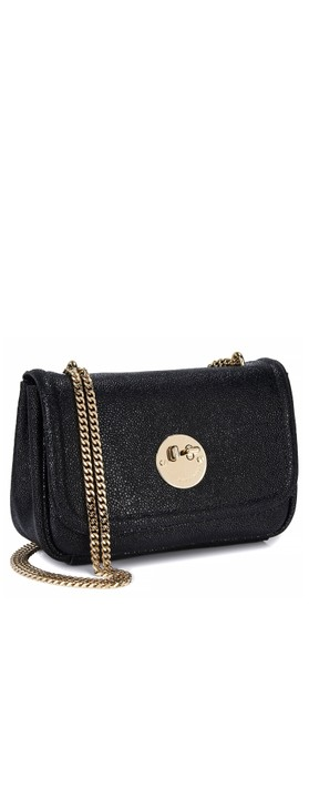 Hill & Friends Happy Cross Body Chain Bag Liquorice Black