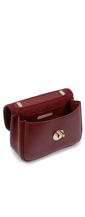Hill & Friends Happy Cross Body Chain Bag Oxblood