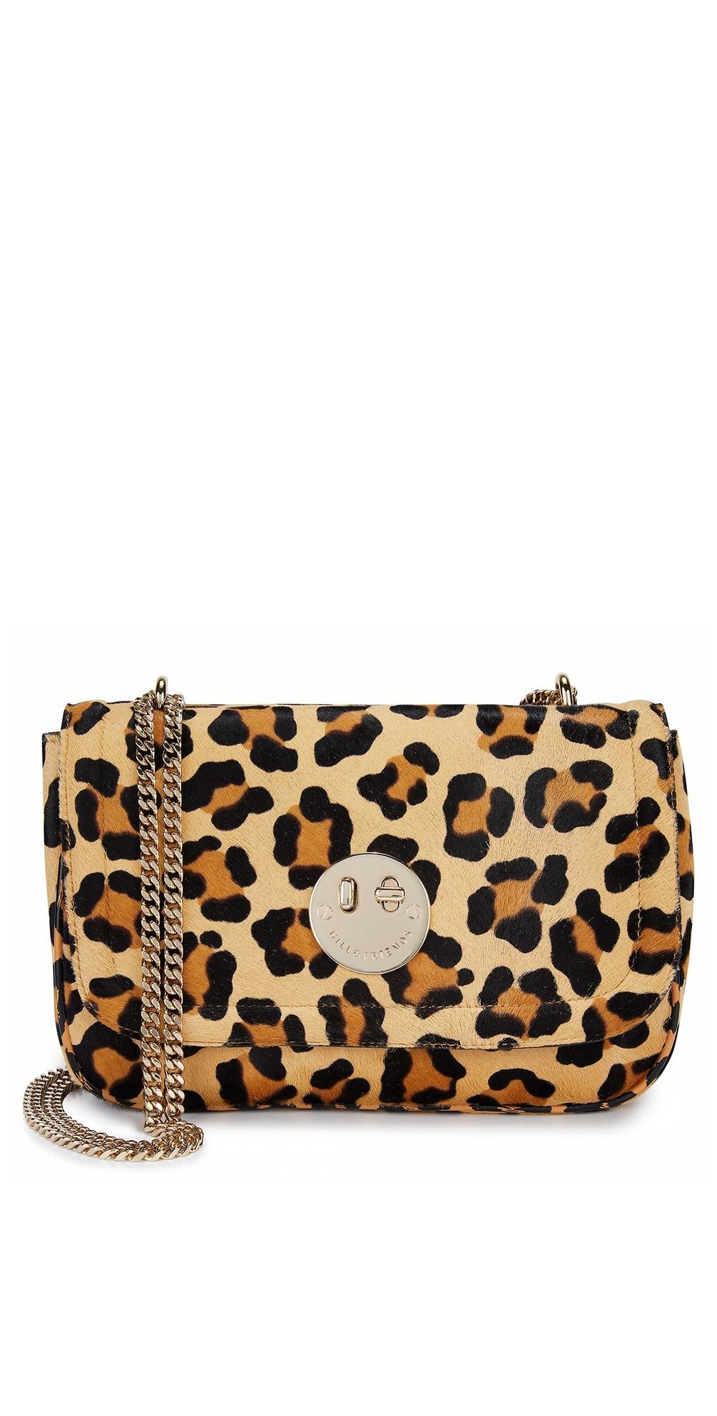c6e94d806 Hill & Friends Happy Cross Body Chain Bag in Natural Leopard