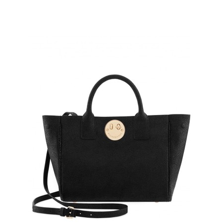 Hill & Friends Happy Mini Tote Bag - Black