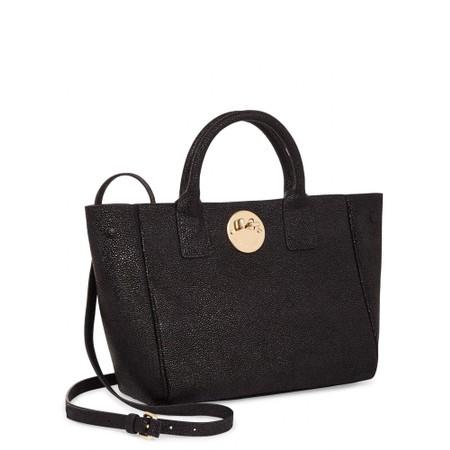 Hill & Friends Happy Mini Tote Bag - Black