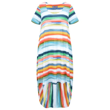 Sahara Vibrant Stripe Jersey Dress - Multicoloured