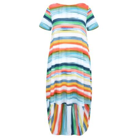 Sahara Vibrant Stripe Jersey Dress - Multicoloured