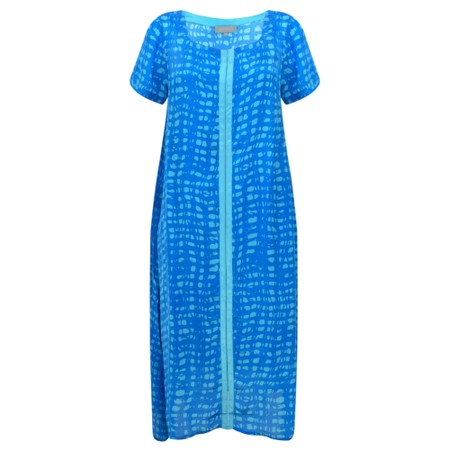 Sahara Two-Tone Graphic Print Dress - Blue