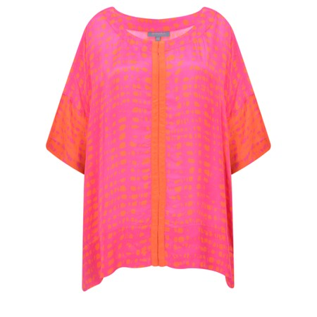 Sahara Two-Tone Graphic Print Top - Pink