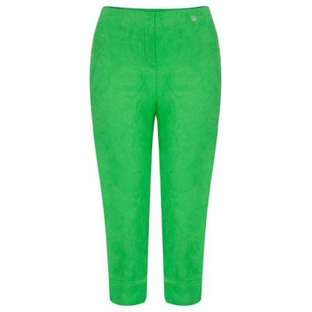 Robell  Marie 07 Jacquard Trouser - Green
