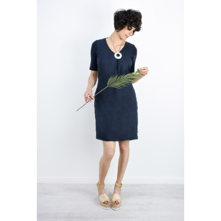 2fbfe167d7b0 Sandwich Clothing Linen Tie Waist Dress - Blue