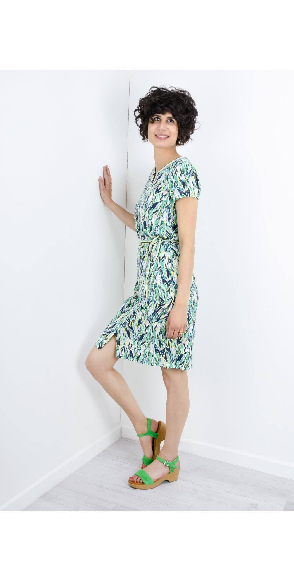 Abstract Print Dress main image
