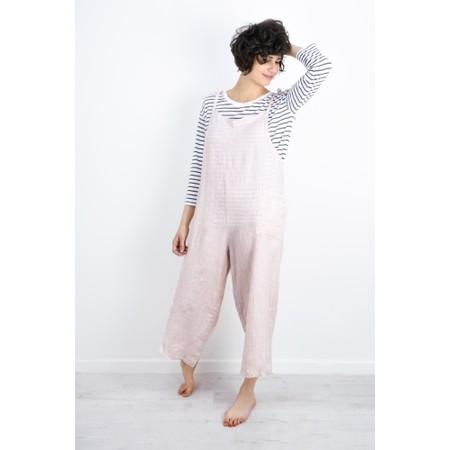 TOC  Danica Linen Dungaree Jumpsuit - Pink