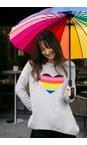 Luella Grey / Rainbow Rainbow Heart Cashmere Blend Jumper