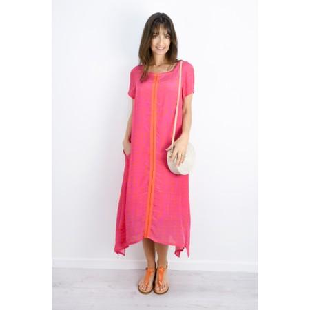 Sahara Two-Tone Graphic Print Dress - Pink